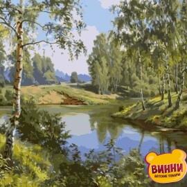 Купить картину по номерам Река в лесу, 40*50 см, VA-1528