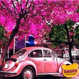 Купить картину по номерам Розовый Volkswagen Beetle, 40*50 см, VA-1975