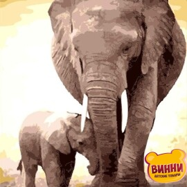 Слон и слонёнок, 40*50 см VA-2118