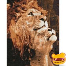 Купить картину по номерам Идейка Большая любовь, львы 40*50 см KHO4192