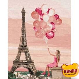 Купить картину по номерам Идейка Лиловые краски Парижа, 40*50 см KHO4761