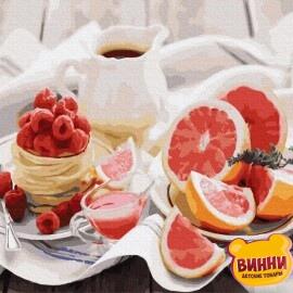 Купить картину по номерам RainbowArt Полезный завтрак 40*50 см, GX30655