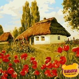 Купить картину по номерам RainbowArt Украинская хатка 40*50 см, GX8271