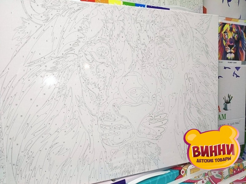 Купить картину по номерам Babylon Радужный лев, 30*40 см VK001