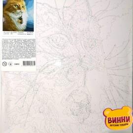 Купить картину по номерам Кот и мышка, 40*50 см, VA-2032