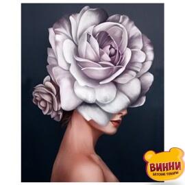 Купить картину по номерам Девушка-цветок, 40*50 см, в коробке, VA-1014