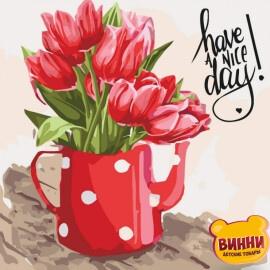 Купить картину по номерам Art Craft Тюльпаны, 40*40 см 12108