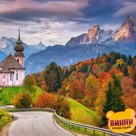 """Купить пазлы Castorland 2000 """"Осень в Баварских Альпах, Германия"""" 92*68 см, С-200795"""
