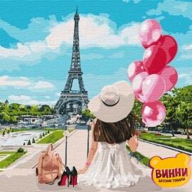 Купить картину по номерам Идейка Гуляя по улицам Парижа, 40*40 см KHO4756
