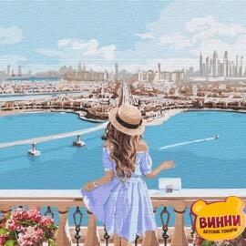 Купить картину по номерам Идейка Любуясь пейзажем, 40*40 см KHO4768