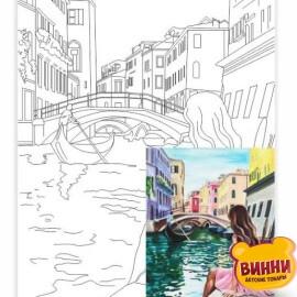 Холст с контуром Венеция 2, 30*40 см в пленке, ROSA START