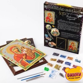 """Набор для творчества """"Алмазная мозаика Diamond mosaic"""", 20*30 см, в коробке, икона"""