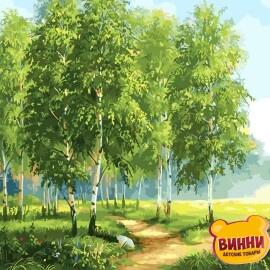Купить картину по номерам RainbowArt Зеленые березы 40*50 см, GX29340