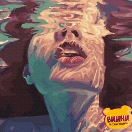 Купить картину по номерам RainbowArt Девушка в воде, 40*50 см, GX33909