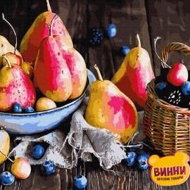 Купить картину по номерам RainbowArt Ароматные груши 40*50 см, GX34313