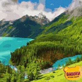 Купить картину по номерам RainbowArt Утро в горах 40*50 см, GX36148