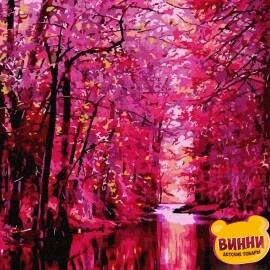 Купить картину по номерам RainbowArt Розовый лес, 40*50 см, GX7486