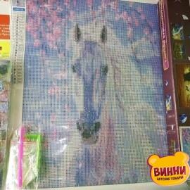Купить алмазную мозаику Белый конь 30*40 см, без рамки, в коробке, H8015