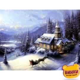 Купить алмазную мозаику Рождество 30*40 см, на подрамнике, в коробке, H8201