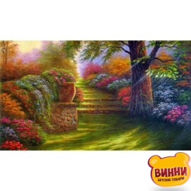 Купить алмазную мозаику Старинный парк 30*40 см, на подрамнике, в коробке, H8877