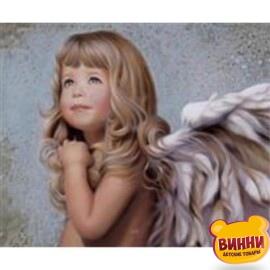 Купить алмазную мозаику Ангел 30*40 см, без рамки, в коробке, H8193