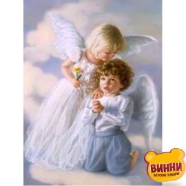 Купить алмазную мозаику Ангелочки, 30*40 см, без подрамника, в коробке, H8264