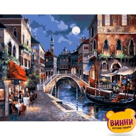 Купить алмазную мозаику Вечерняя Венеция 30*40 см, без рамки, в коробке, H8581