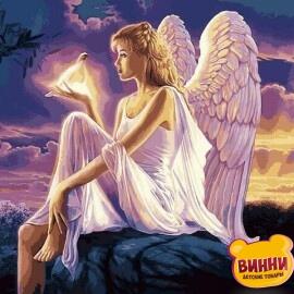 Купить картину по номерам Babylon Ангел с голубкой, 40*50 см VP1144