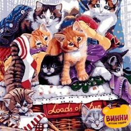 Купить картину по номерам Mariposa Озорные котята, 40*50 см Q1764