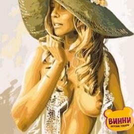 Купить картину по номерам Babylon Девушка в летней шляпке, 30*40 см VK216