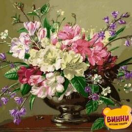 Купить картину по номерам Mariposa Букет в серебряной вазе, 40*50 см Q2161