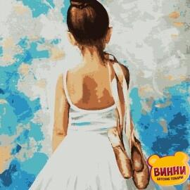 Купить картину по номерам Artissimo Маленькая балерина, 40*50 см, PN3308