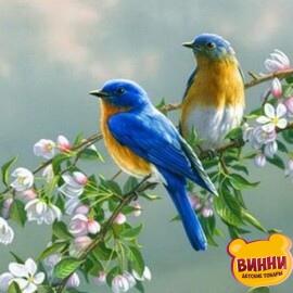 Купить картину по номерам Птички на яблоне, 40*50 см Mariposa Q809