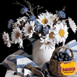 Купить картину по номерам ArtStory AS0837 Натюрморт с ромашками