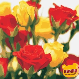 Купить картину по номерам ArtStory AS0851 Жёлто-красные розы