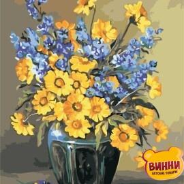 Купить картину по номерам ArtStory AS0931 Жёлто-синий букет