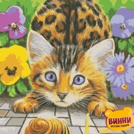 Купить картину по номерам ArtStory AS0932 Кот и улитка