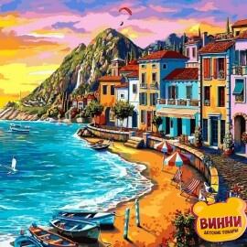 Купить картину по номерам Mariposa Набережная на закате, 40*50 см, Q2232