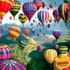 Купить картину по номерам Mariposa Воздушные шары, 40*50 см, Q2233