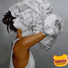 Купить картину по номерам Mariposa Женщина в пионах, худ. Эми Джадд, 40*50 см, Q2235