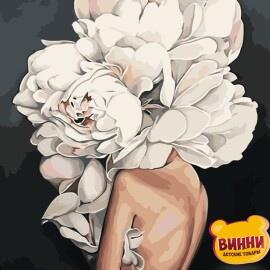 Купить картину по номерам Strateg Девушка-цветок, 40*50 см, VA-1012