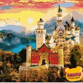 Купить картину по номерам Strateg Замок на закате, 40*50 см, VA-1032