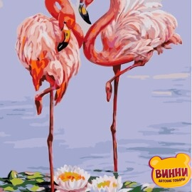 Купить картину по номерам Strateg Фламинго, 40*50 см, VA-1309