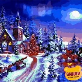 Купить картину по номерам Babylon Новогодняя ночь. Доминик Дэвисон, 40*50 см VP1263