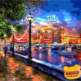 Купить картину по номерам Babylon Жизнь в Лондоне. Доминик Дэвисон, 40*50 см VP1275