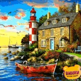 Купить картину по номерам Babylon Дом смотрителя маяка. Доминик Дэвисон, 40*50 см VP1277