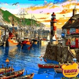 Купить картину по номерам Babylon Восход солнца в порту. Доминик Дэвисон, 40*50 см VP1279