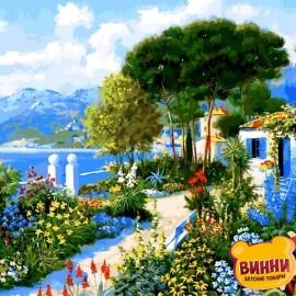 Купить картину по номерам Babylon Сад у дома. Доминик Дэвисон, 40*50 см VP1292