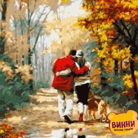 Купить картину по номерам Artissimo Осенняя прогулка, 40*50 см, PN0728