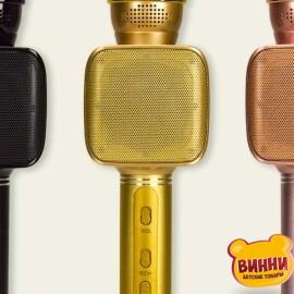 Купити мікрофон караоке USB зарядка, в кор 8*7,5*26 см, M138